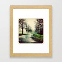 Misty park - Instagram Framed Art Print