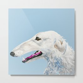 Realistic dog portrait pet dog Metal Print