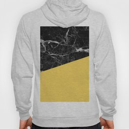 Black Marble and Primrose Yellow Color Hoody