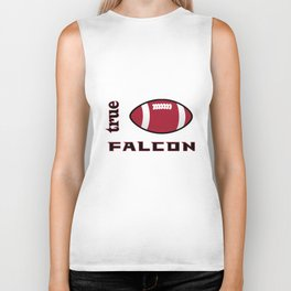 True Falkon American Football Design black lettering Biker Tank
