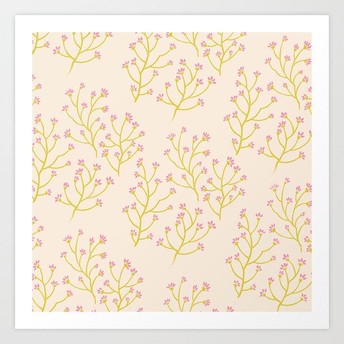 wildflowers yellow Art Print