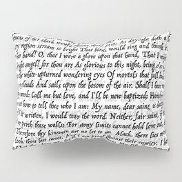 Love Letter Shakespeare Romeo & Juliet Pattern Pillow Sham