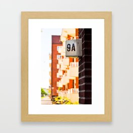 Apartment 9A Framed Art Print