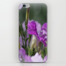Blossoms in purple iPhone Skin
