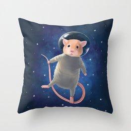 Mouse Astronaut Throw Pillow