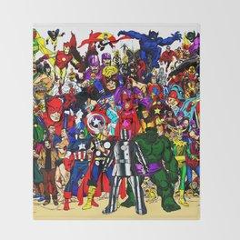 super hero all anime Throw Blanket