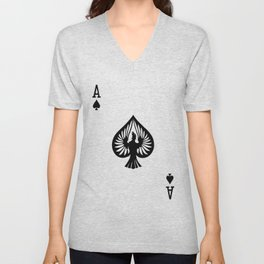 Curator Deck: The Ace of Spades Unisex V-Neck