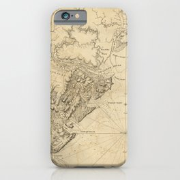 The Atlantic Neptune: Charts for the Use of the Royal Navy (1780) - Coast of the Province of Georgia iPhone Case
