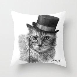 Monsieur Mack Throw Pillow