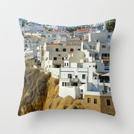 Albufeira old town, Portugal Throw Pillow