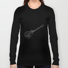 Black Guitar Long Sleeve T-shirt
