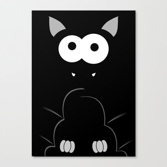 Minimal Bat Canvas Print