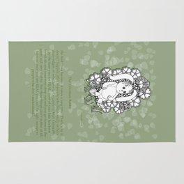 Velveteen Rabbit Wisdom Illustration for Children Rug