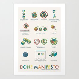 Done Manifesto Art Print