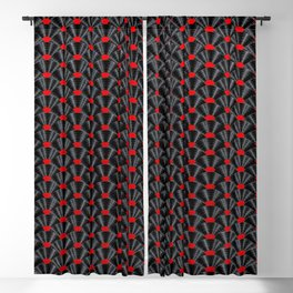 Covered in Vinyl / Vinyl records arranged in scale pattern Blackout Curtain