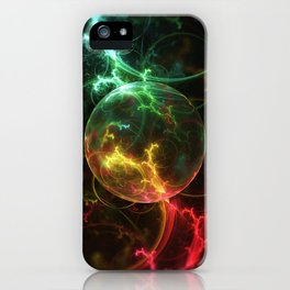 Carniverous Cape Sundew Tentacles in an Ecosphere iPhone Case