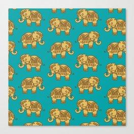 Elephant Pattern Canvas Print