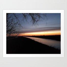 Sunrise in Brabant Art Print