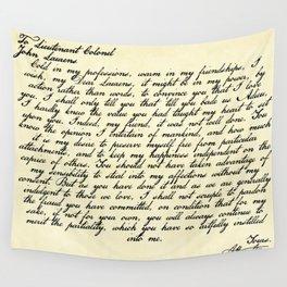 Alexander Hamilton Letter to John Laurens Wall Tapestry