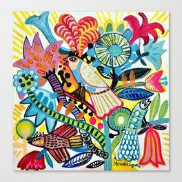 Birds party Canvas Print