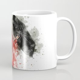 Umbrella Woman Watercolor Coffee Mug