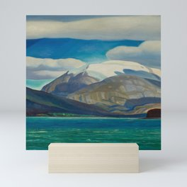 Snowcapped Mountain by the Seacoast nautical landscape painting 1924 by Rockwell Kent Mini Art Print