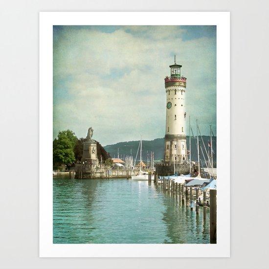 LINDAU LIGHTHOUSE - LAKE OF CONSTANCE Art Print