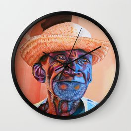 His smile Wall Clock