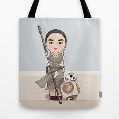 Kokeshis Rey and cute droid Tote Bag