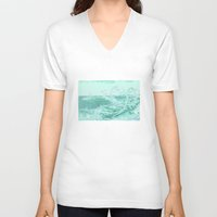 wave V-neck T-shirts featuring wave by Alexandr-Az