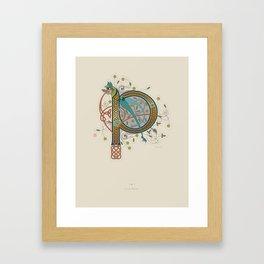 Celtic Initial P Framed Art Print