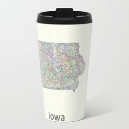 Iowa map Travel Mug
