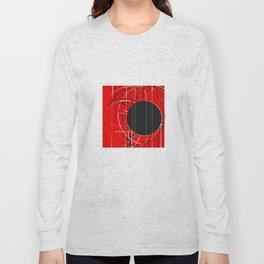Black Dot Sticker Abstract Long Sleeve T-shirt