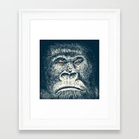 gorilla Framed Art Prints featuring Gorilla by Lara Trimming