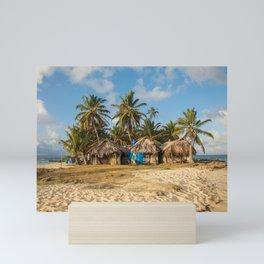 San Blas Island Huts Mini Art Print