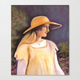 Enjoying a beautiful garden Canvas Print