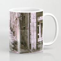 montreal Mugs featuring Montreal - Alley by Doug Dugas