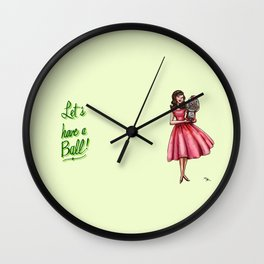 Let's Have a Ball! Wall Clock