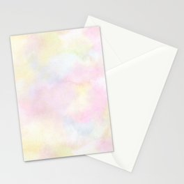 Spring Abstract pastel watercolor Stationery Cards