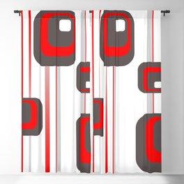 Vintage Retro Graphic white Blackout Curtain