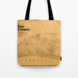 Map of Sausalito 1868 Tote Bag