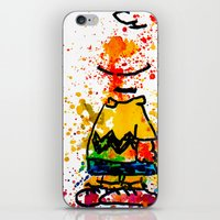 charlie brown iPhone & iPod Skins featuring Charlie Brown by benjamin james