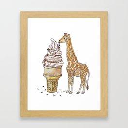 Ice Cream for a Giraffe Framed Art Print