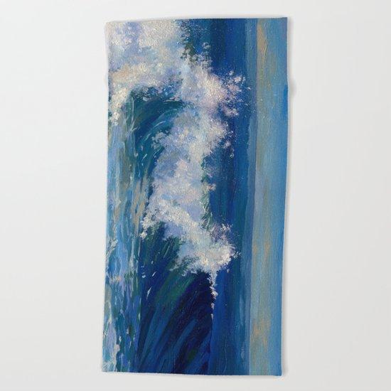 """Red sea"" Beach Towel"