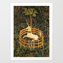The Unicorn In Captivity Original Art Print