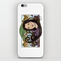 regina mills iPhone & iPod Skins featuring regina nouveau by raynall