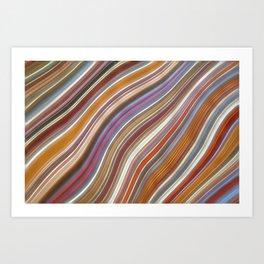 Wild Wavy Lines 02 Art Print