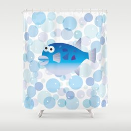 Globefish and Bubble Shower Curtain