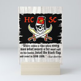 HCSC Jolly Roger & Cap'n Jack Tar Quote Mini Art Print