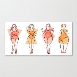 Curvy Girls Canvas Print